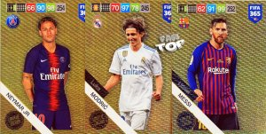 3 cards set  XXL Limited MESSI MODRIC NEYMAR - FIFA 2019