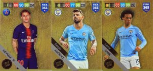 3 x Limited cards set SANE AGUERO NEYMAR - FIFA 2019