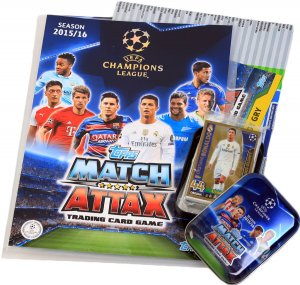 01 ALBUM + Tin + 36 cards  Ronaldo Limited - TOPPS - CHAMPIONS LEAGUE 2015 / 2016