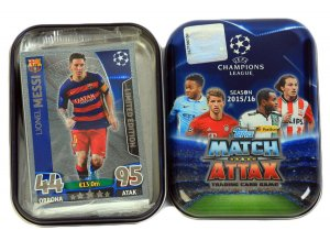 POCKET TIN  MESSI SILVER Limited   - CHAMPIONS LEAGUE 2015-2016