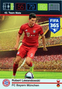 Lewandowski Team Mate card FIFA 2016
