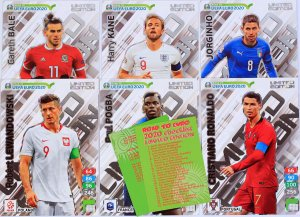 6 cards XXL  LIMITED Edition - ROAD to EURO 2020