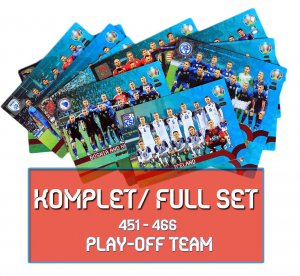 Fans 16 cards full set PLAY OFF Team EURO 2020