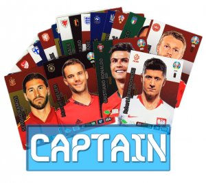 20 cards CAPTAIN full set -  EURO 2020