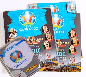 ALBUM + TIN  30 cards without repetition 2 limited - EURO 2020