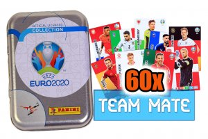 60 cards set TEAM MATE in TIN  - EURO 2020