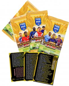 4 x BONUS PACK Limited  FIFA 2021  + check list cards