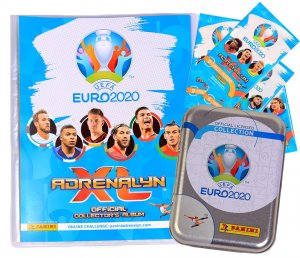 ALBUM  + TIN  5 booster packs  Limited -  EURO 2020