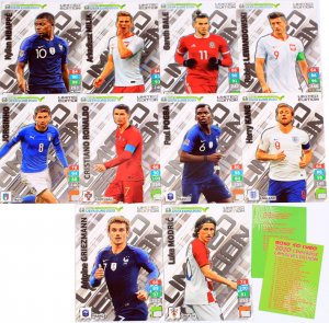 10  cards set XXL LIMITED - Modric , Griezmann , Ronaldo ... -  ROAD to EURO 2020