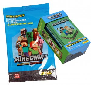 STARTER PACK + BIG TIN - 78 cards  - MINECRAFT