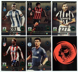 5 cards set  Limited Edition - UPDATE 2015 Champions League