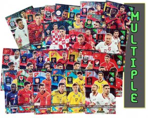 MULTIPLE cards  343 - 378   - 2021 KICK OFF EURO