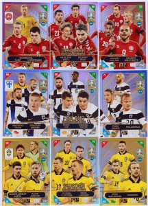9 cards set SCANDINAVIAN STAR NORDIC  2021 KICK OFF EURO