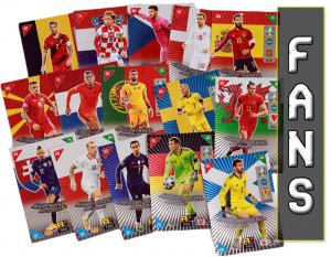 full set 72 cards FANS Favourites   -  2021 KICK OFF EURO