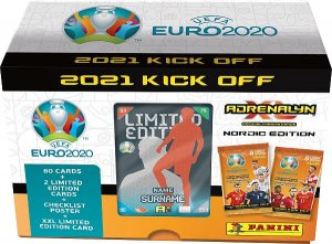 GIFT BOX  + 80 cards + 1 limited select  2021 KICK OFF  UEFA EURO 2020