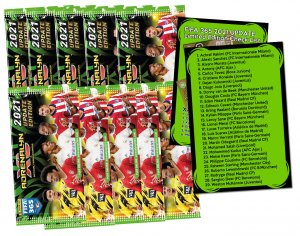 10 x booster packs + Limited cards check list  -  UPDATE Fifa 365 2021