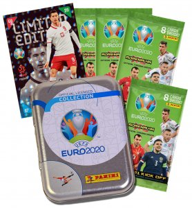 Tin + 4  packs + 1 Limited to select  2021 KICK OFF- UEFA EURO 2020