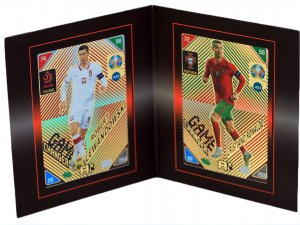 2 x NORDIC  Ronaldo Lewandowski  Game Changer + FRAME - KICK OFF 2021 EURO
