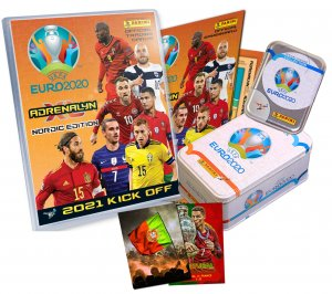 ALBUM + 2 x TIN + cards 2021 KICK OFF + fantop card PORTUGAL winners