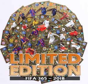 44  cards set  LIMITED EDITION   FIFA 2018 + FRAME + checklist