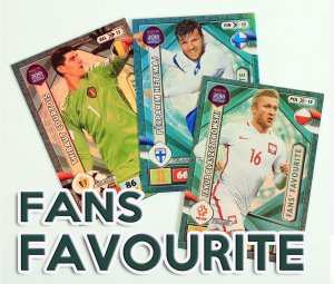 FANS FAVOURITE  cards select - ROAD to WORLD CUP Russia 2018
