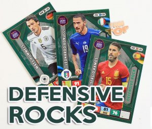 DEFENSIVE ROCK  cards select - ROAD to WORLD CUP Russia 2018