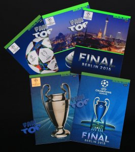 full set 5 cards  BERLIN 2015 - Update Champions League