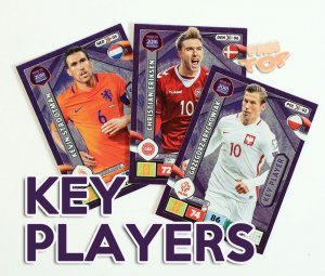 KEY PLAYER  cards select - ROAD to WORLD CUP Russia 2018