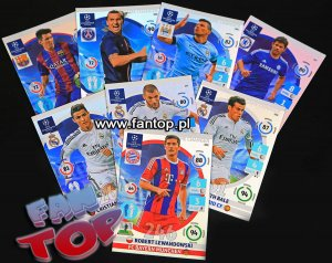 full set 9 cards  GAME CHANGER - Champions League 2014 2015