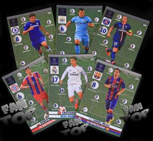 6 cards full set  GOAL MACHINE - KOMPLET -  Champions League 2015