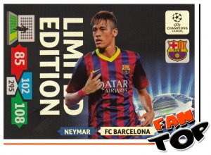 XXL  NEYMAR  -  big card -  Limited Edition - Champions League 2013/2014